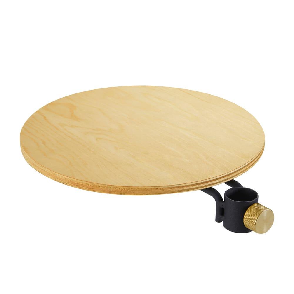 DRAW A LINE 突っ張り棒 縦専用丸テーブル (ア)ブラック