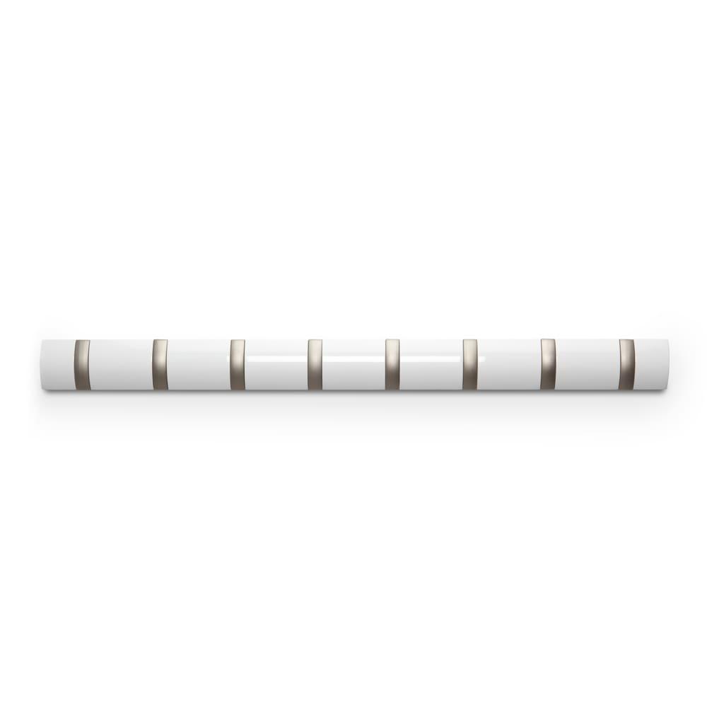 umbra/アンブラ Fook 壁掛けハンガー シルバーフリップフック 8連・ホワイト(つやあり)