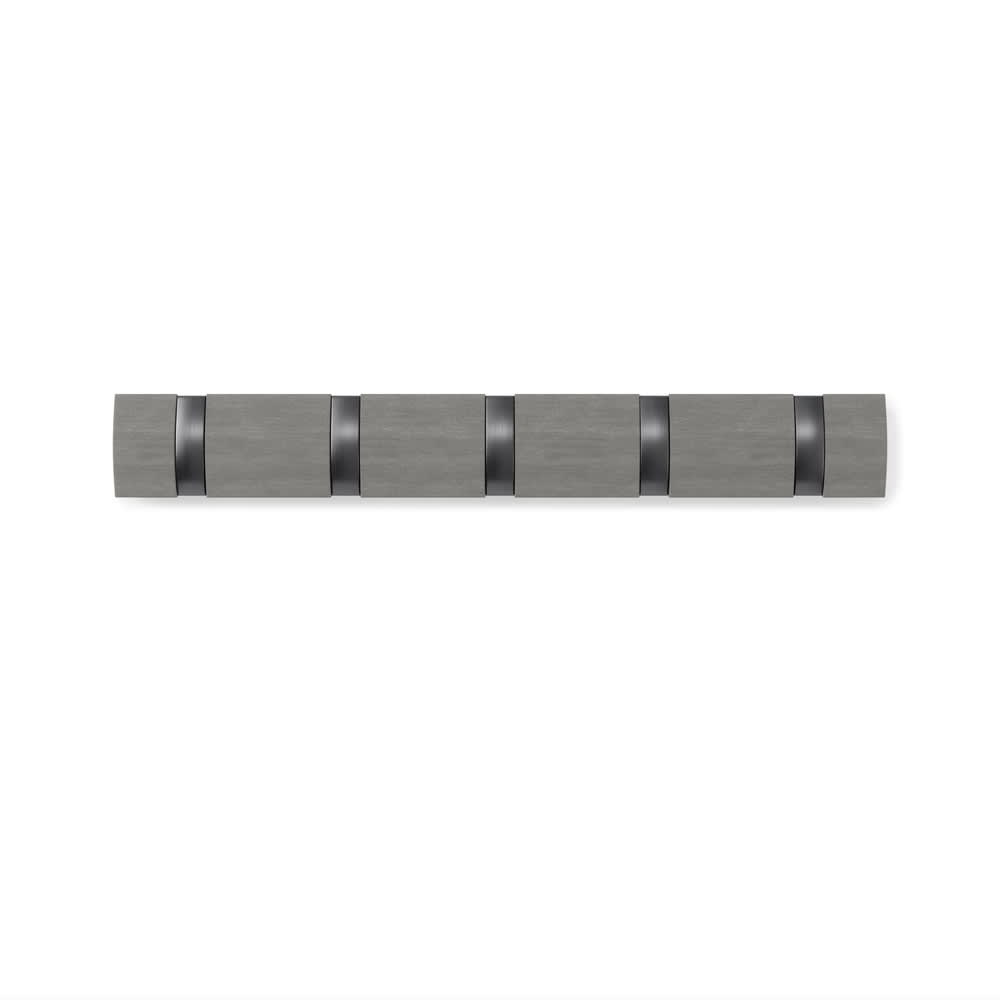 umbra/アンブラ 壁掛けハンガー フリップフック 5連タイプ (イ)グレー/ピューター