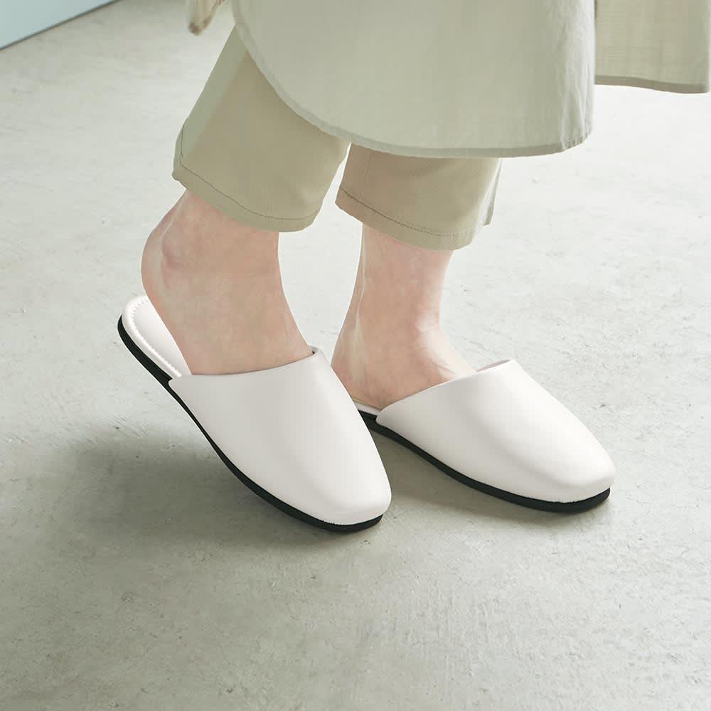 スタイリッシュゲストスリッパ 同色2足組 細身の美しいデザインと履き心地を両立した、贅沢なスリッパです。