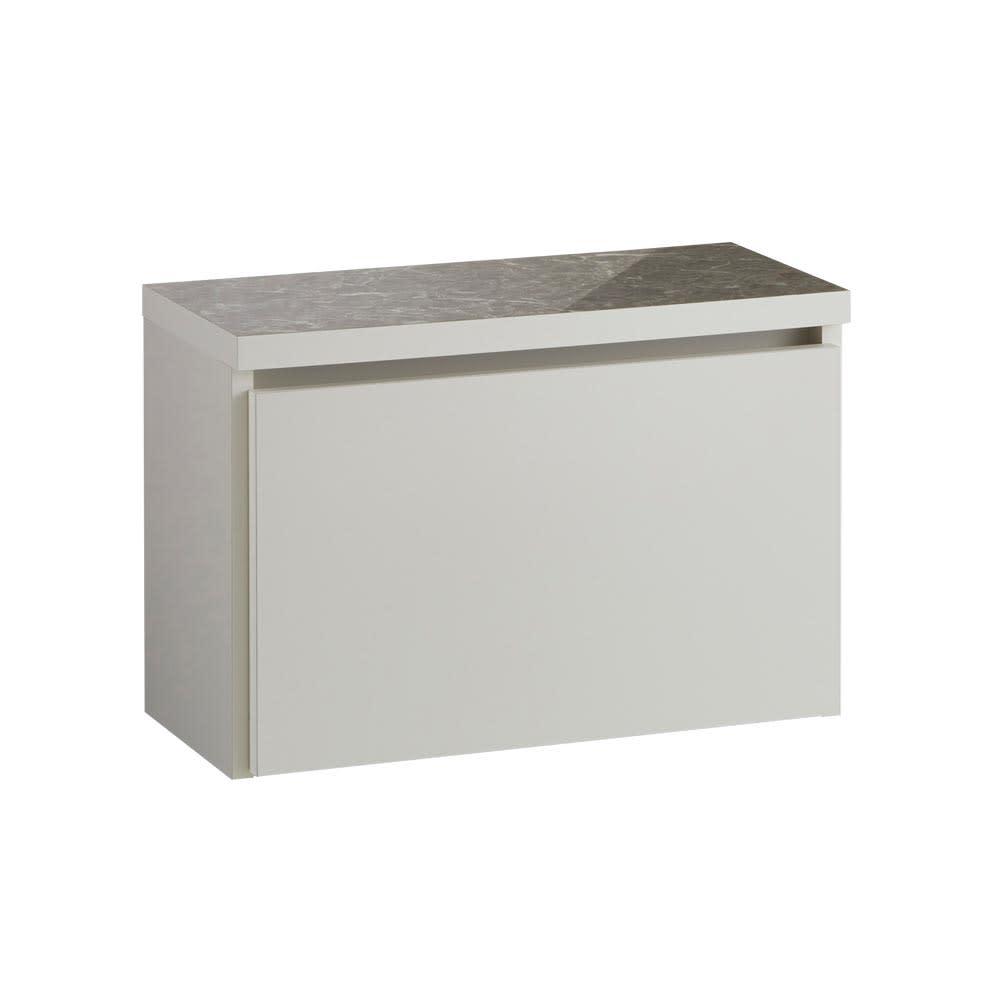 Marmo/マルモ 石目柄天板ベンチ収納 ワゴン1杯・幅59.5cm高さ40.5cm ホワイト系 お届けの商品はこちらです。