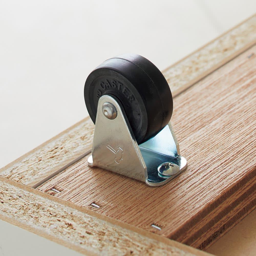Marmo/マルモ 石目柄天板ベンチ収納 ワゴン1杯・幅59.5cm高さ40.5cm 玄関床材を配慮した静音ゴムキャスター使用。床の上は勿論、土間などのスペースでも活用できます。