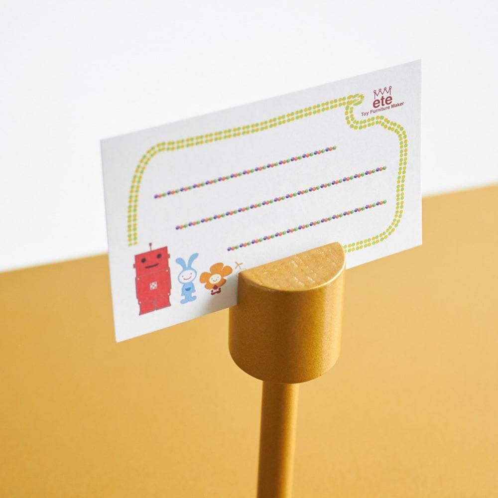 ROBIT/ロビット 収納ロボ 当店限定カラー[ete・えて] アンテナにはメッセージカードが差せるので、家族内の伝言や、ゲストへのメッセージもおすすめ。