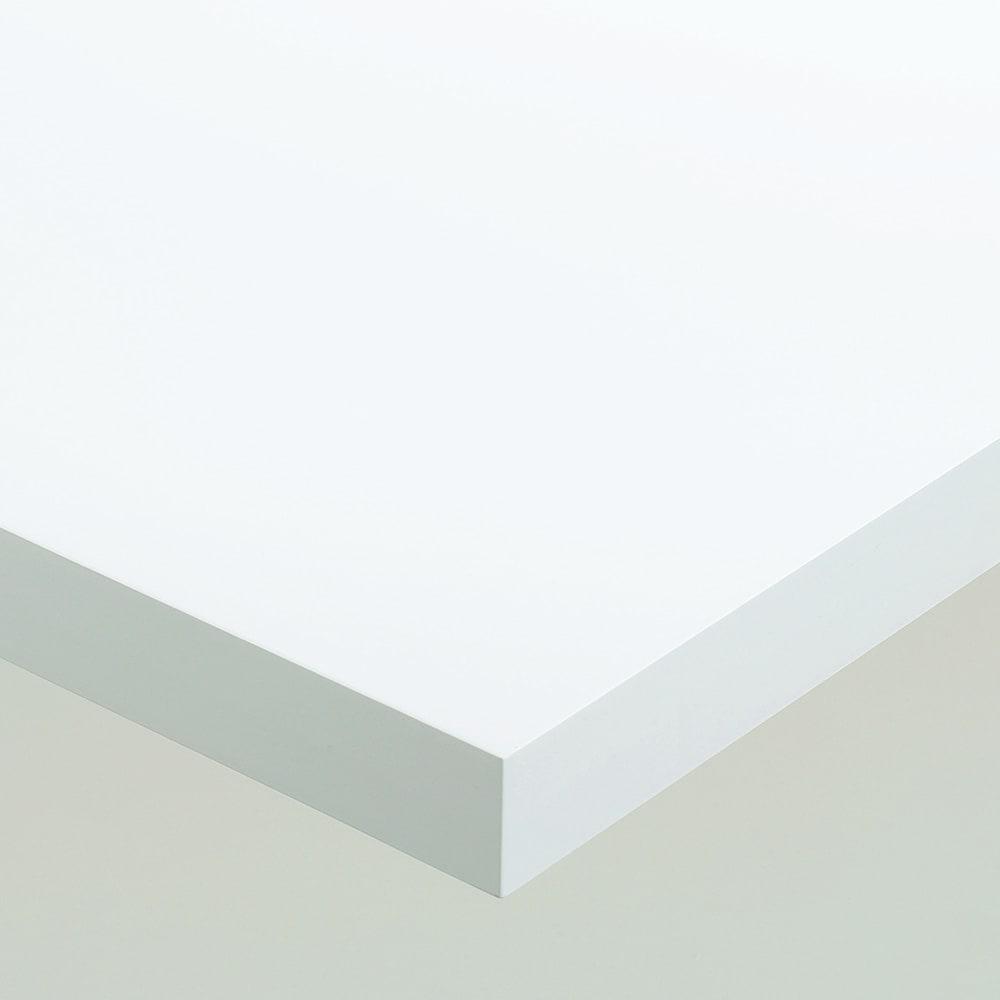 Multi マルチダイニングテーブル ウッドレッグタイプ 幅160cm 素材アップ:ホワイト 落ち着いた光沢のホワイト