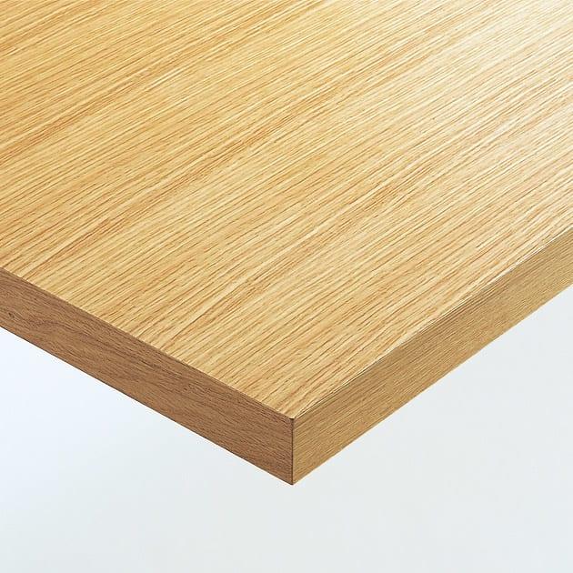 Multi マルチダイニングテーブル ウッドレッグタイプ 幅180cm 素材アップ:オーク(ナチュラル) 温もりあるナチュラル色のオーク材