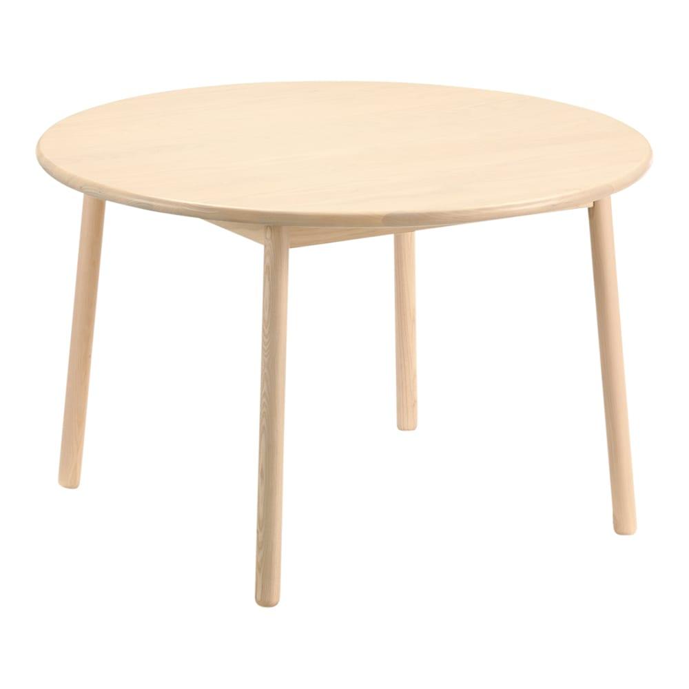 Ridge/リッジ ダイニングセット 天然木丸テーブル5点セット テーブル直径110cm 円形テーブル 径110cm     アッシュ天然木の木目が美しい丸型ダイニングテーブル。