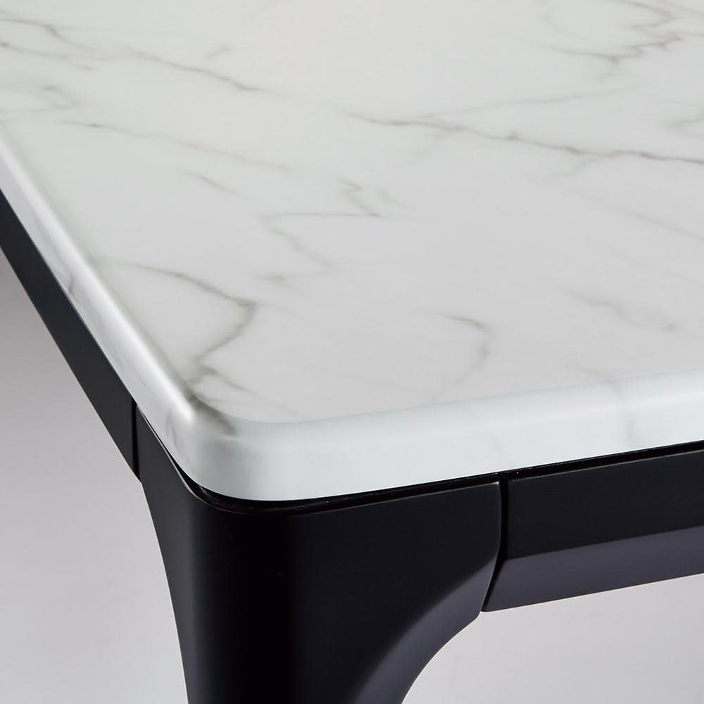 ALMER/アルメール 大理石調ダイニングシリーズ テーブル145 5点セット 上質な大理石調天板は角のない安心設計