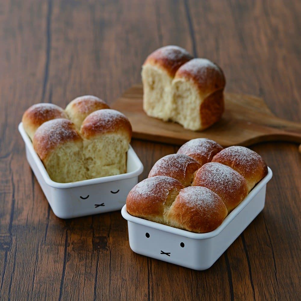 ミッフィー ホーロー浅型角容器 2点セット オーブン調理も可能!パンやケーキの容器としてもお使い頂けます。