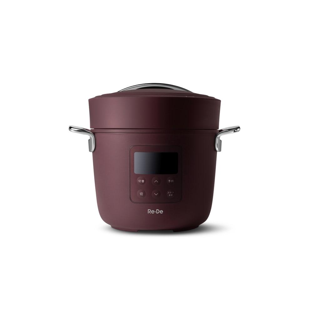Re・De Pot/リデポット 電気圧力鍋2L (イ)レッド