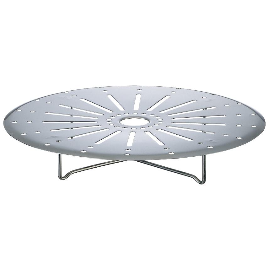 ステンレス3層鋼DONABE 土鍋27cm+蒸し板 ヘルシーな蒸し料理も楽しめる蒸し板がセットされています。