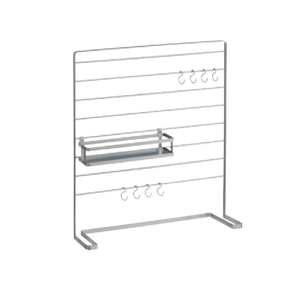 フック付きマルチスパイスラック 小1 スパイスラックはお好みの位置に変更できます。