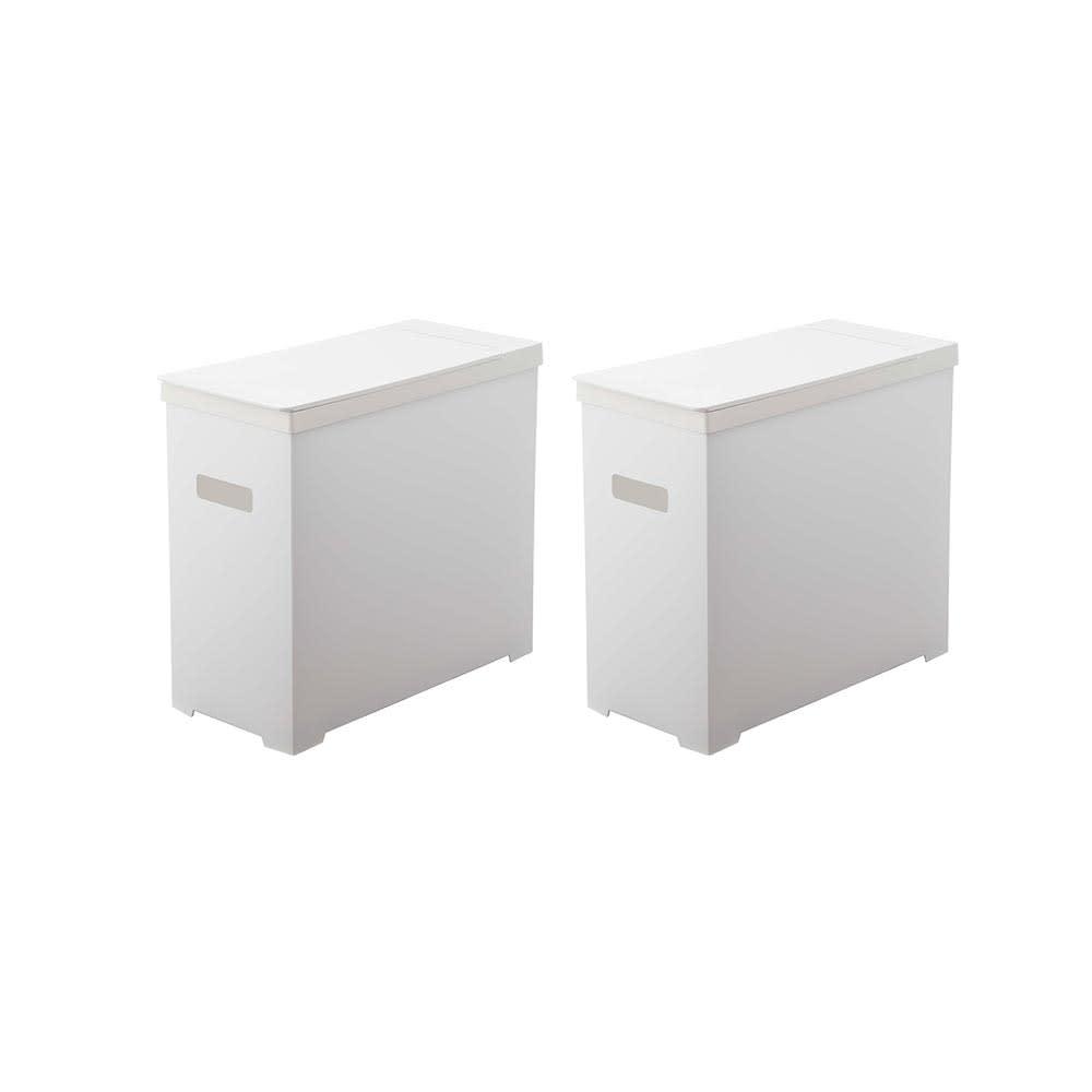 シンク下収納蓋付ゴミ箱 同色2個組 (ア)ホワイト2個組