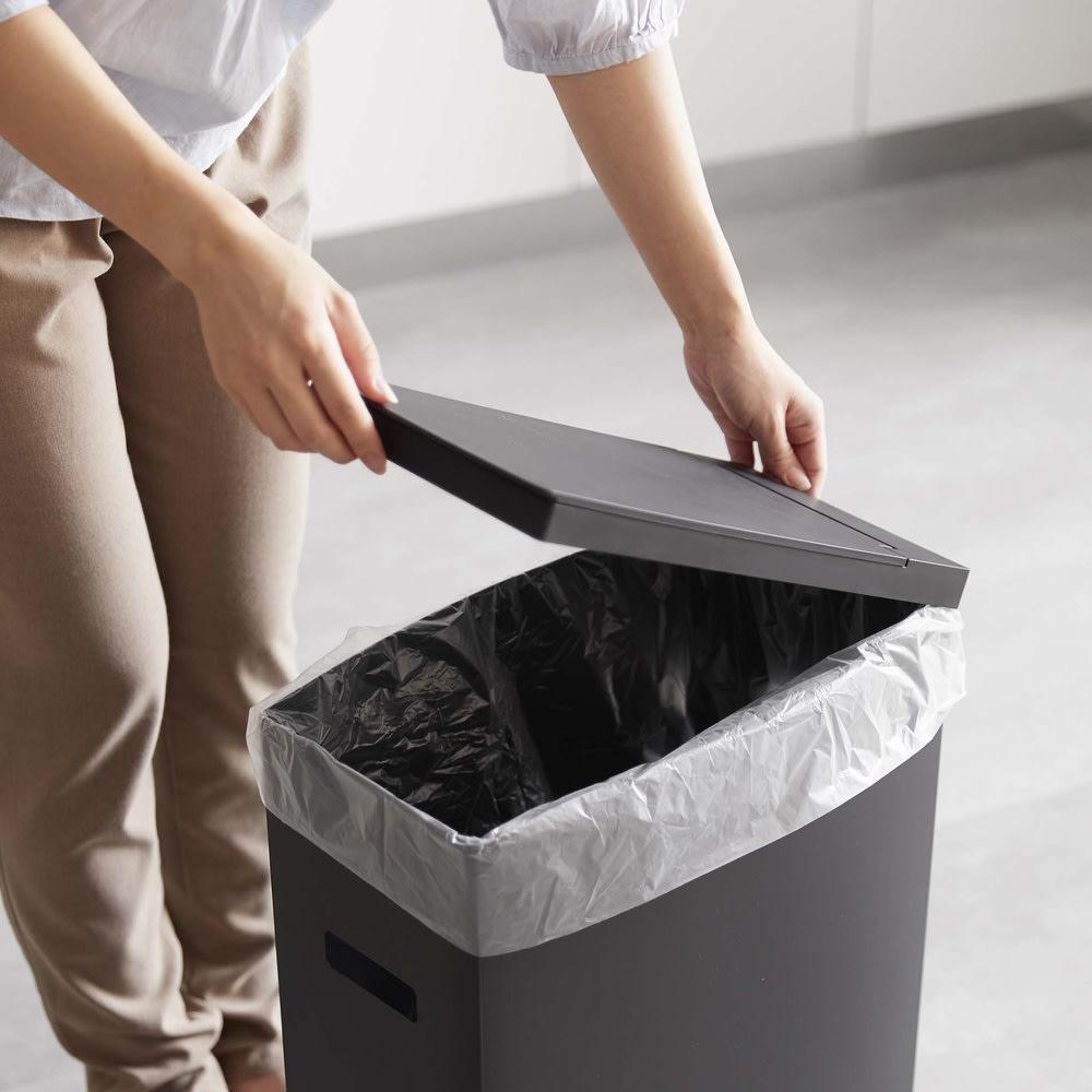シンク下収納蓋付ゴミ箱 同色2個組