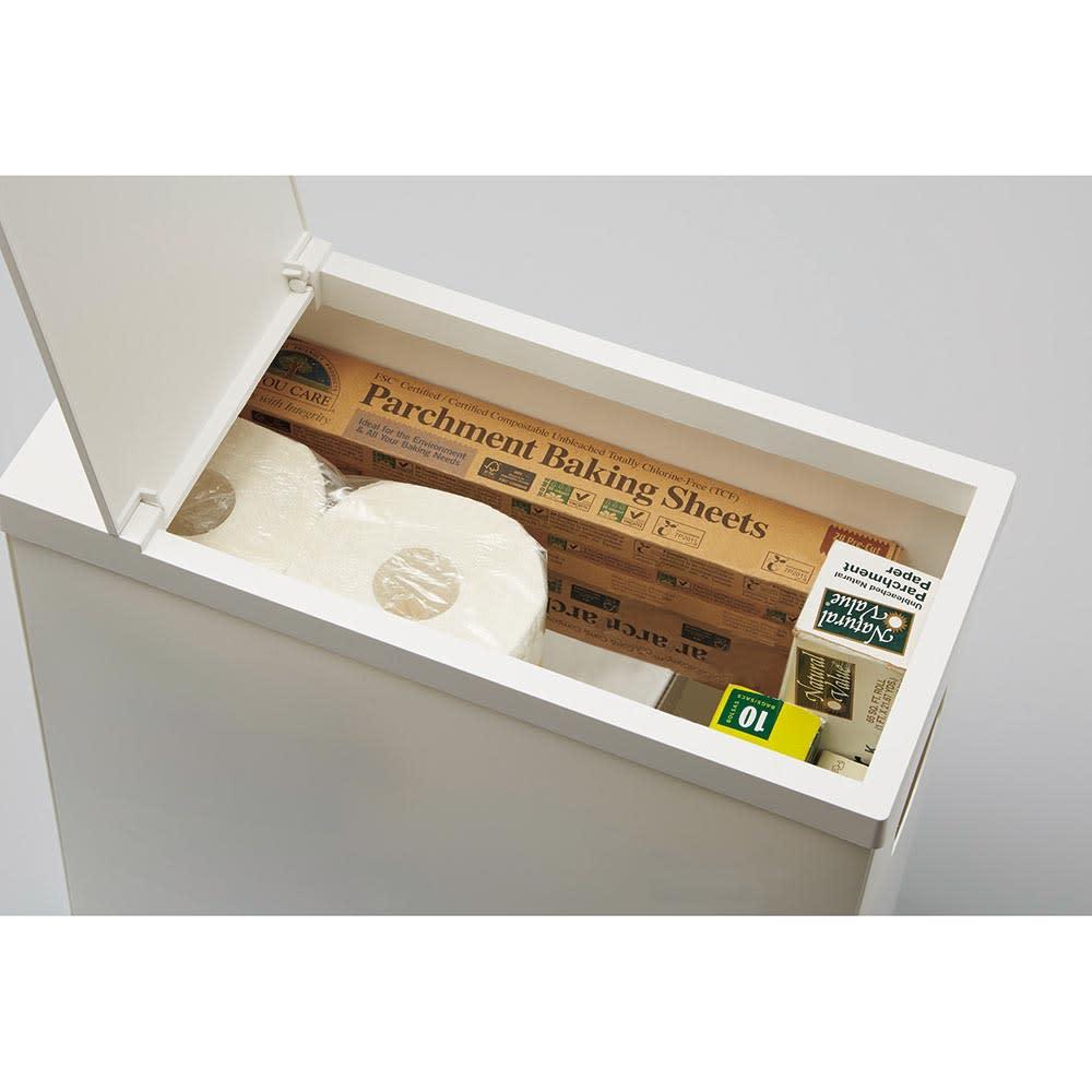 シンク下収納蓋付ゴミ箱 同色3個組 ペーパー類などのストック品を入れてもお使い頂けます。