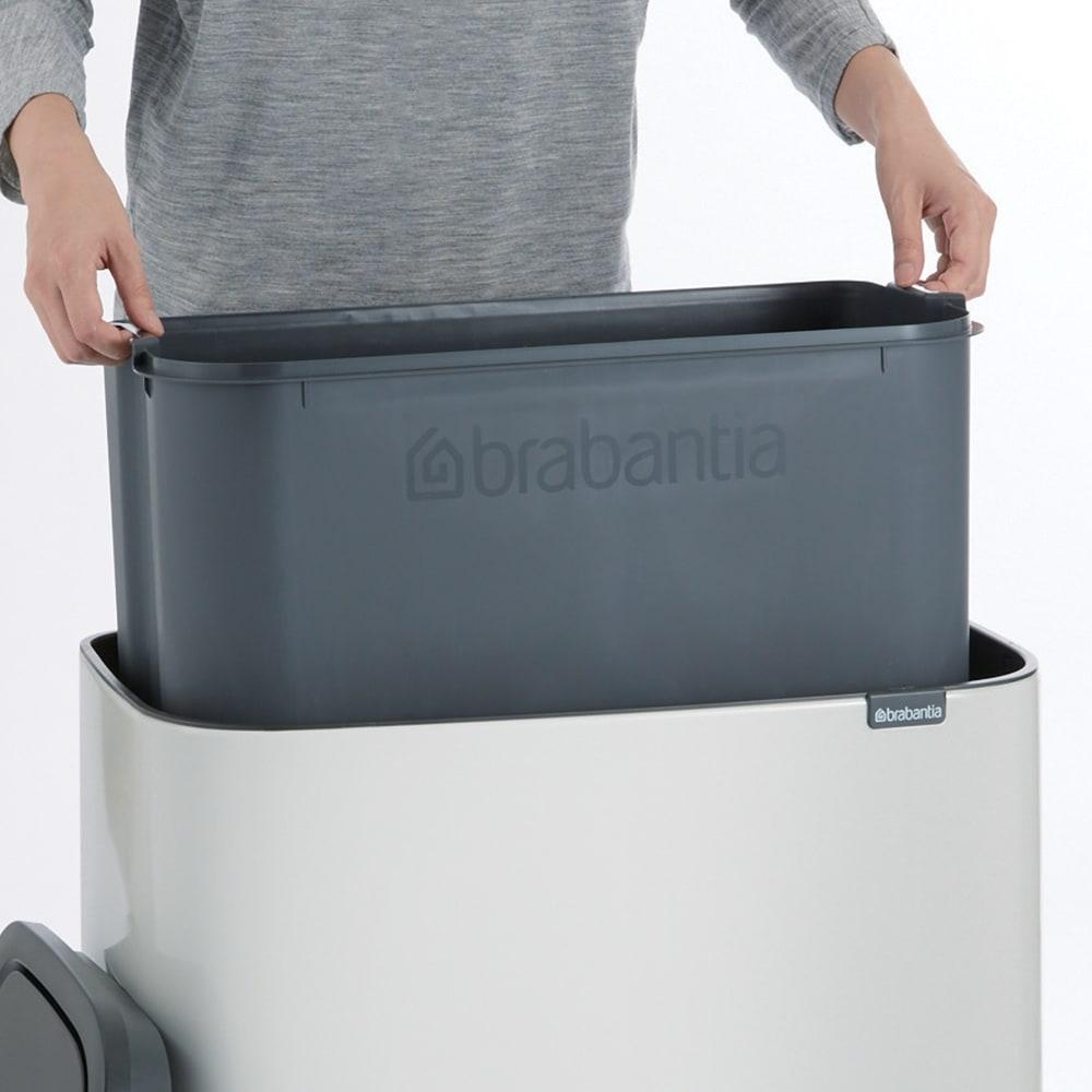 brabantia/ブラバンシア ダストボックス Boタッチビン カラータイプ 中バケツは取り外すことができます。
