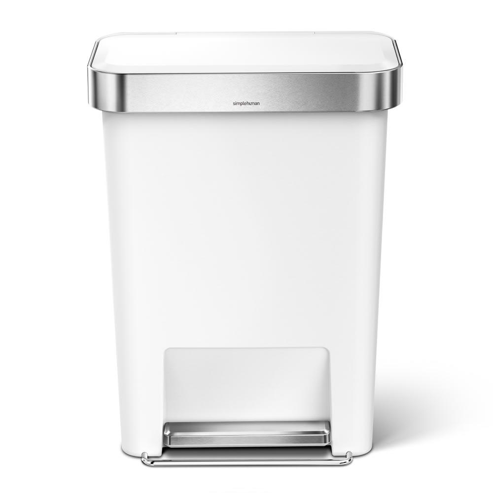simplehuman/シンプルヒューマン ゴミ袋ホルダー付ペダルペール ホワイト