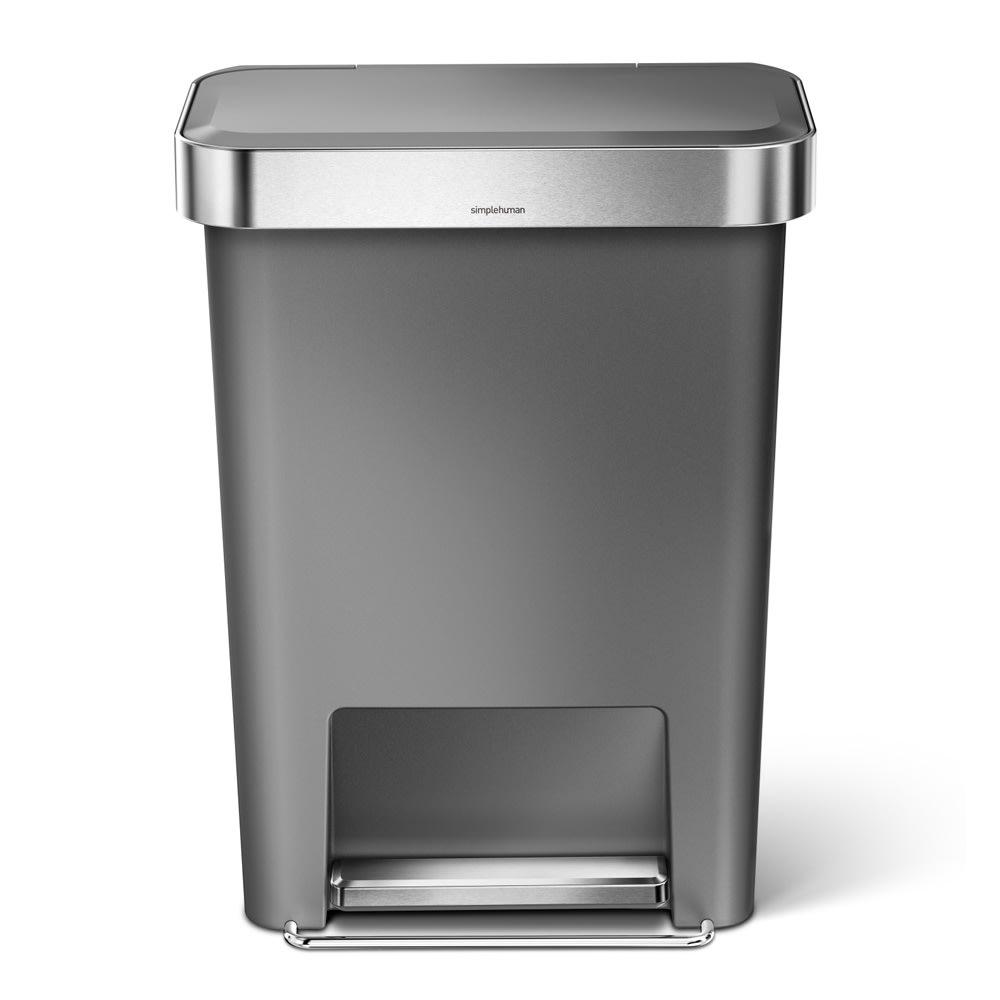 simplehuman/シンプルヒューマン ゴミ袋ホルダー付ペダルペール グレー