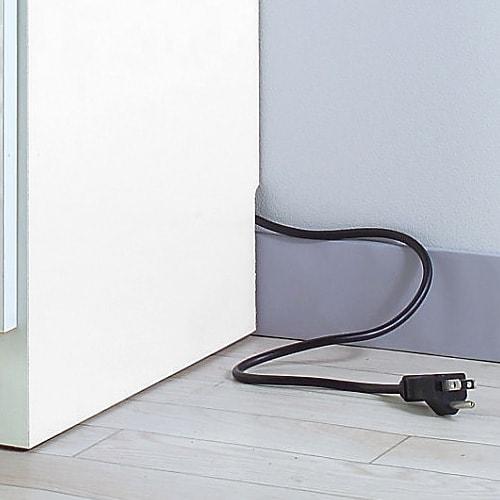 Ihana/イハナ サイズが選べる家電収納ラック 幅60cm奥行45cm高さ180cm 幅木よけ(9×1cm)が施されているので壁面ぴったり。