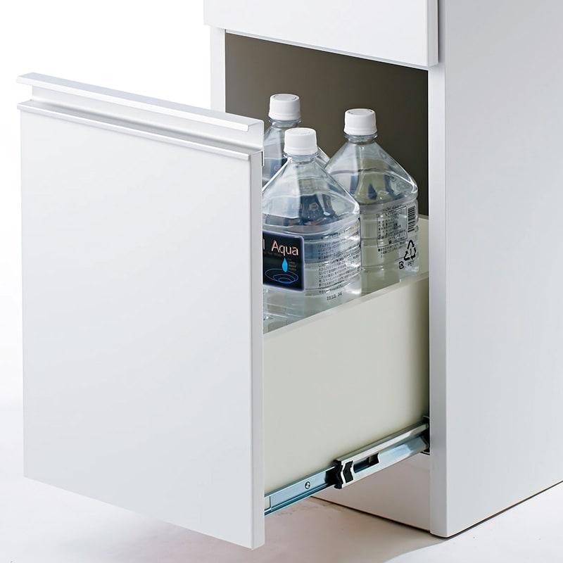 Anya/アーニャ キッチンすき間収納 ハイタイプ(引き出し3段) 幅35cm奥行55cm高さ178cm 最下段の引き出しは2Lサイズのペットボトルも収納可能。