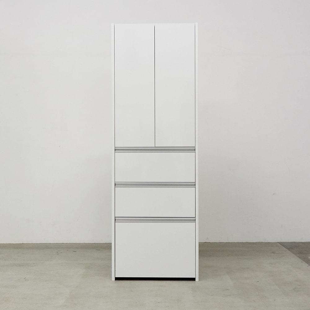 Ymir/ユミル 隠せるストッカー 幅50奥行55cm高さ178cm 色見本(ア)ホワイト