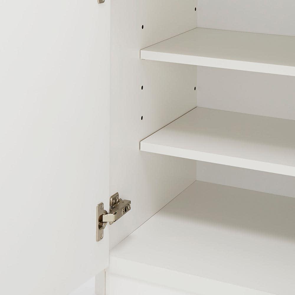 Lilja/リルヤ 大理石調天板棚収納キッチンカウンター家電ラック付き 幅120cm奥行48cm高さ88cm 棚板は可動式で収納物に合わせて調整が可能です。