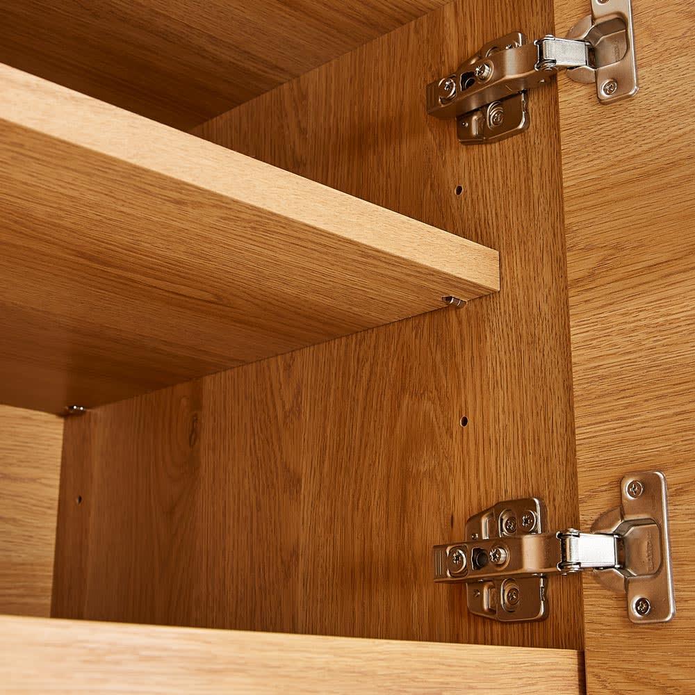 Lana/ラナ ステントップボード幅100cm 扉収納内の可動棚は6cmピッチで高さ調節できます。