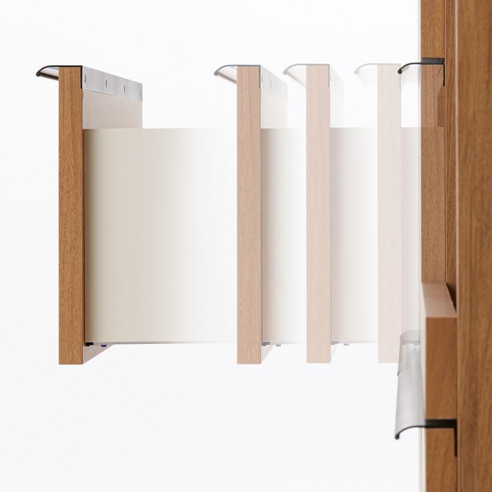 Lana/ラナ ステントップボード・キッチンボード 幅140cm 【サイレントレール】引き出しは静かにゆっくり閉まります。