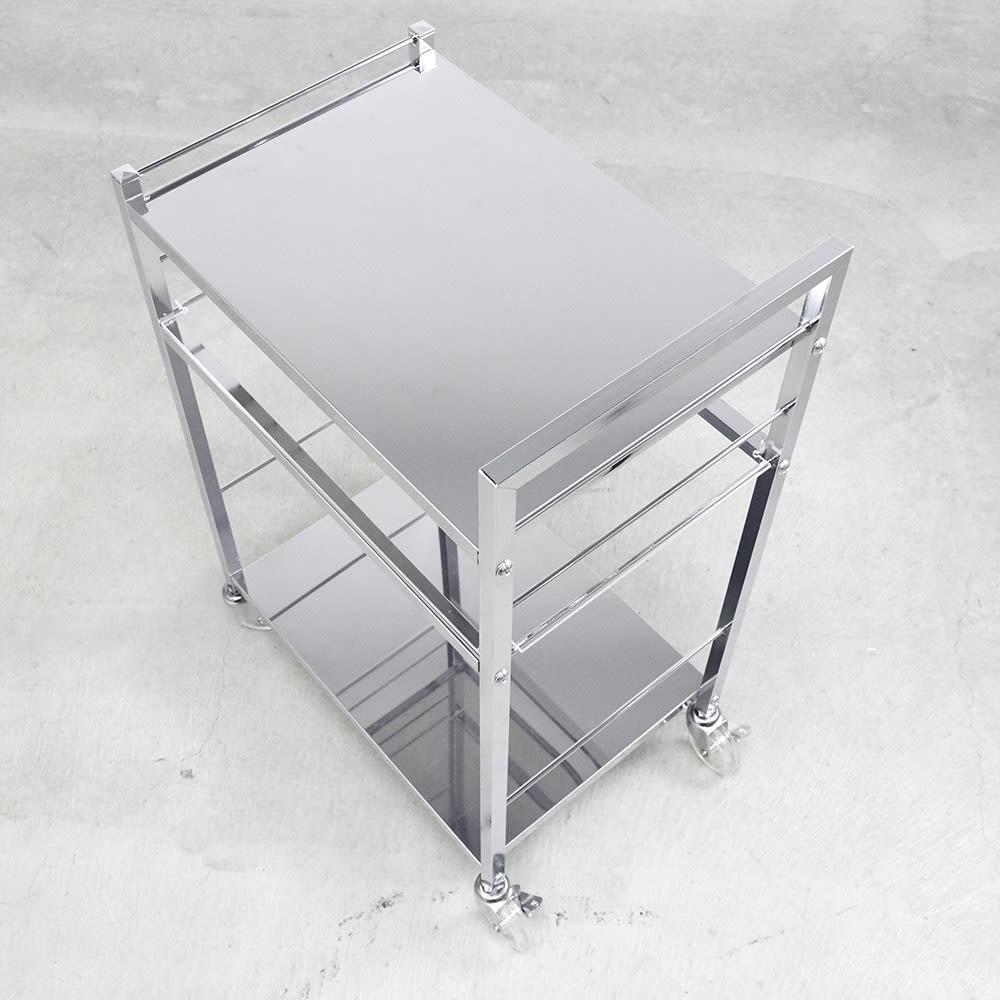 ステンレス製キッチンワゴン 幅33.5cm