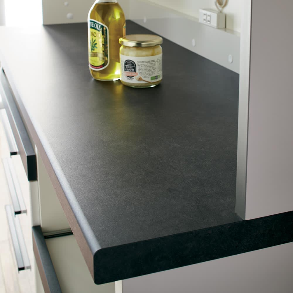 Boulder/ボルダー 石目調天板キッチンシリーズ カウンター 幅90cm 奥行45cm シックな石目調の天板はキズや汚れにも強くお手入れ簡単。