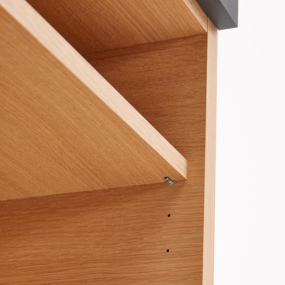 Boulder/ボルダー 石目調天板キッチンシリーズ カウンター 幅140cm 奥行45cm 棚板は3cmピッチで高さ調節できます。
