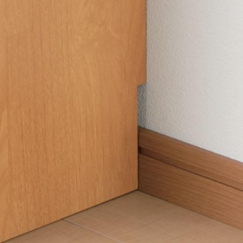 Pippi/ピッピ カウンター下収納庫 引き戸 幅150奥行23cm 【幅木カット】壁にぴったりとつけて設置できます。