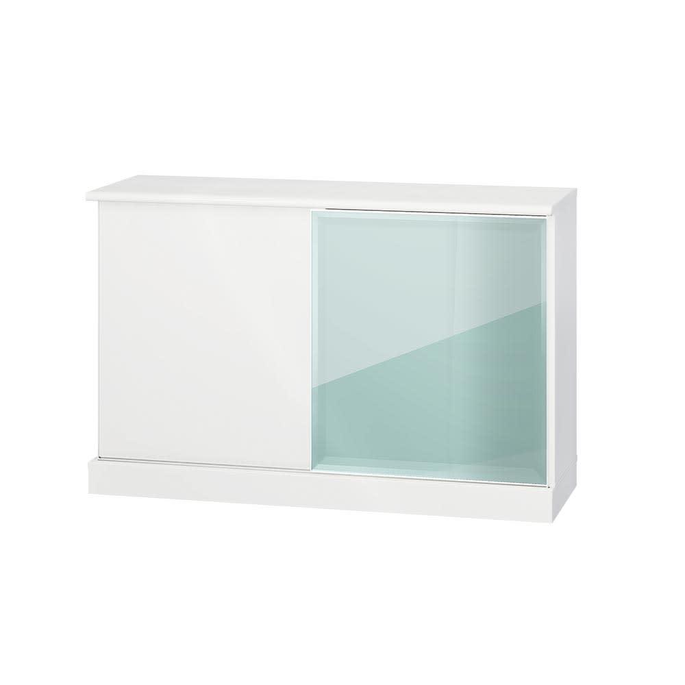 Orga/オルガ 引き戸キッチン収納 カウンター 幅140cm (ア)ホワイト