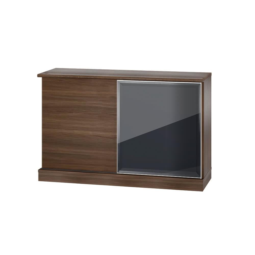 Orga/オルガ 引き戸キッチン収納 カウンター 幅140cm (イ)ダークブラウン