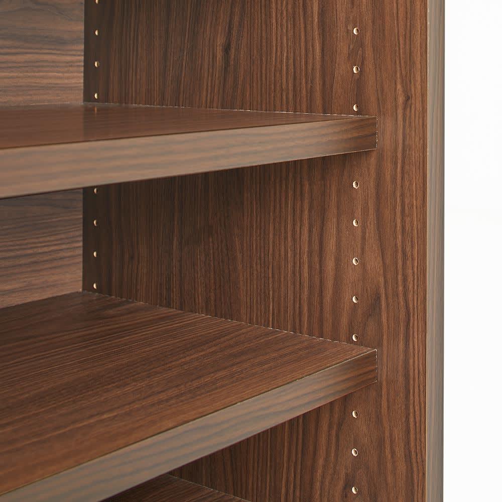 Orga/オルガ 引き戸キッチン収納 カウンター 幅140cm 棚板は3cmピッチで高さ調整できます。