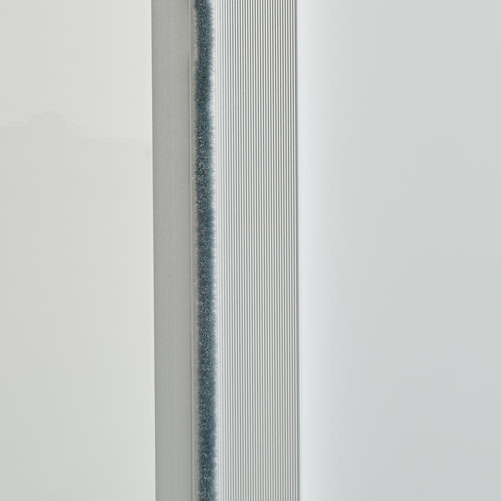 Orga/オルガ 引き戸キッチン収納 カウンター 幅140cm 内部にホコリが入るのを防ぎます。