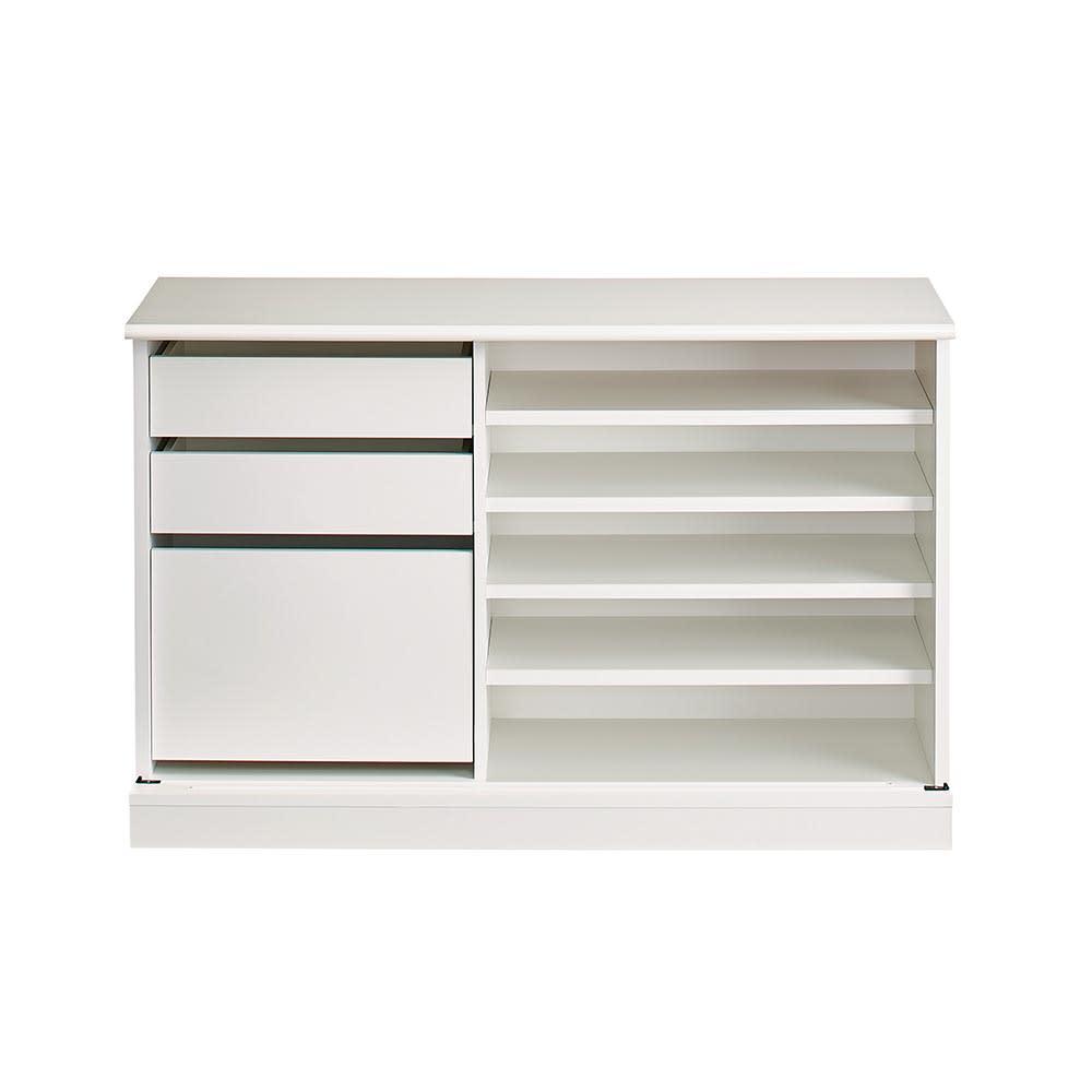 Orga/オルガ 引き戸キッチン収納 カウンター 幅160cm ※写真は 幅140タイプ 扉を外して撮影しています。