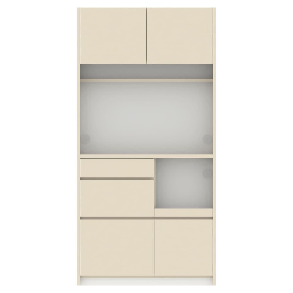 Enkel/エンケル キッチンシリーズ 幅105cm キッチンボード (ア)マットベージュ お届けする商品になります