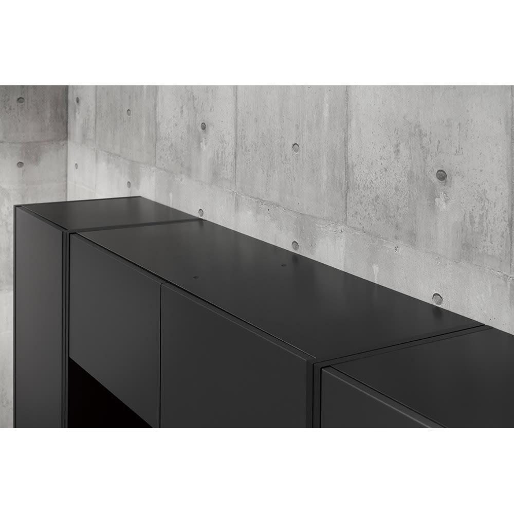 Enkel/エンケル キッチンシリーズ 幅50cm ユーティリティラック 天面にも化粧がされているので、お手入れが簡単にできます。マットベージュ:ホワイト マットグレー:ブ ラック