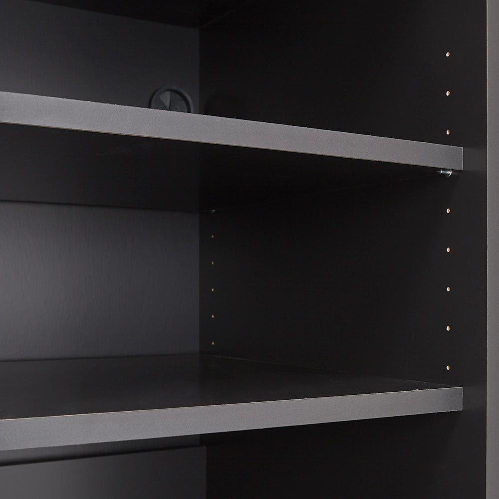 Enkel/エンケル キッチンシリーズ 幅50cm ユーティリティラック 可動棚枚数 3cm間隔 調節上フラップ部4段、上段オープン10段、下段オープン12段
