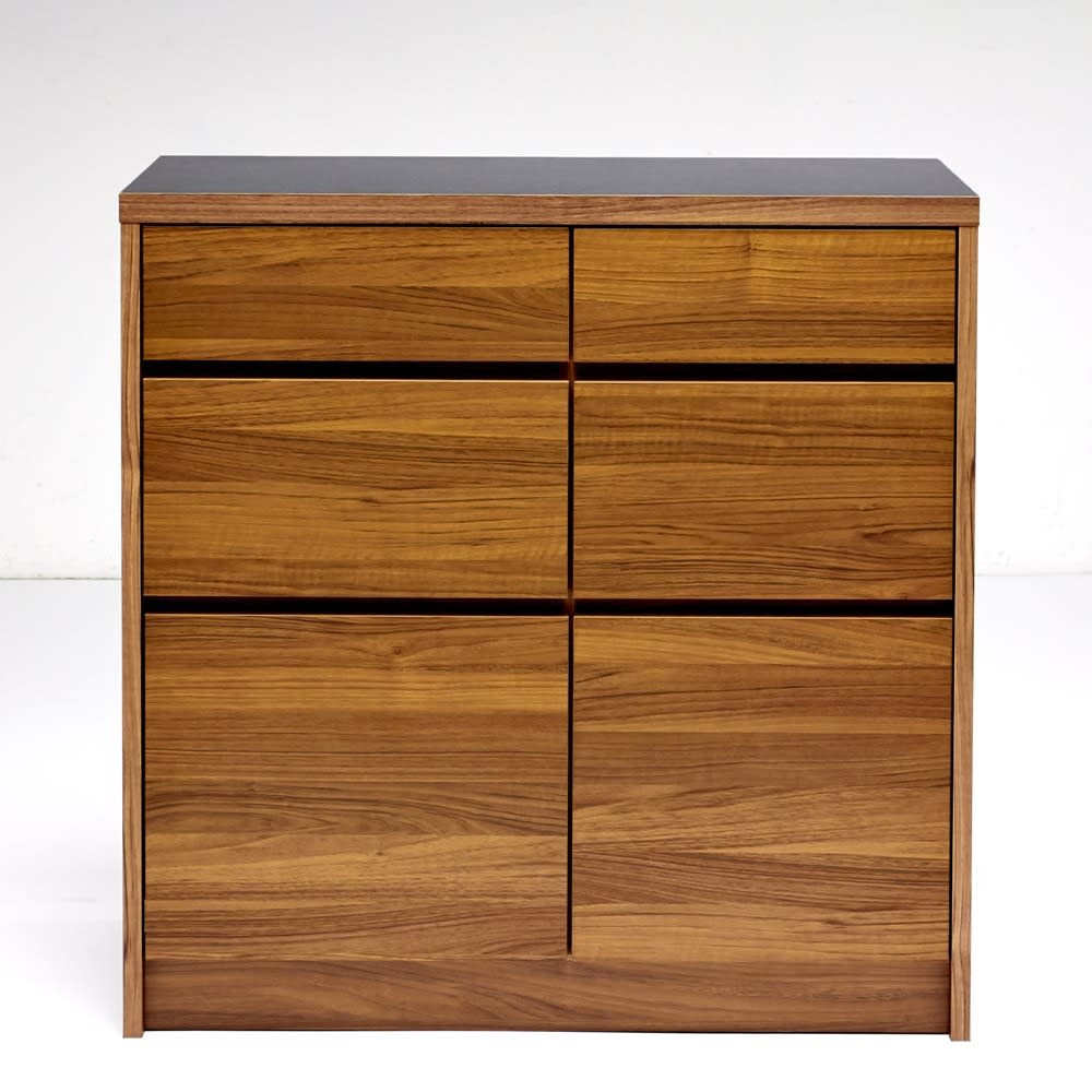 Granite/グラニト アイランド間仕切りキッチンカウンター幅90cm 引き出しタイプ 取っ手をなくし、モダンですっきりとしたデザインに仕上げています。