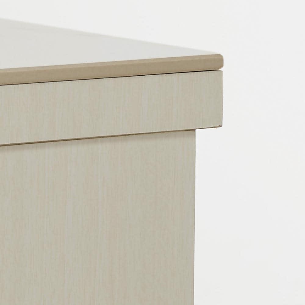 Caato/カット カウンター下収納 チェスト幅40.5cm 高さ60.5cm 天板背面が1cm長い仕様なので巾木よけになり壁にぴったり付けてご利用頂けます。