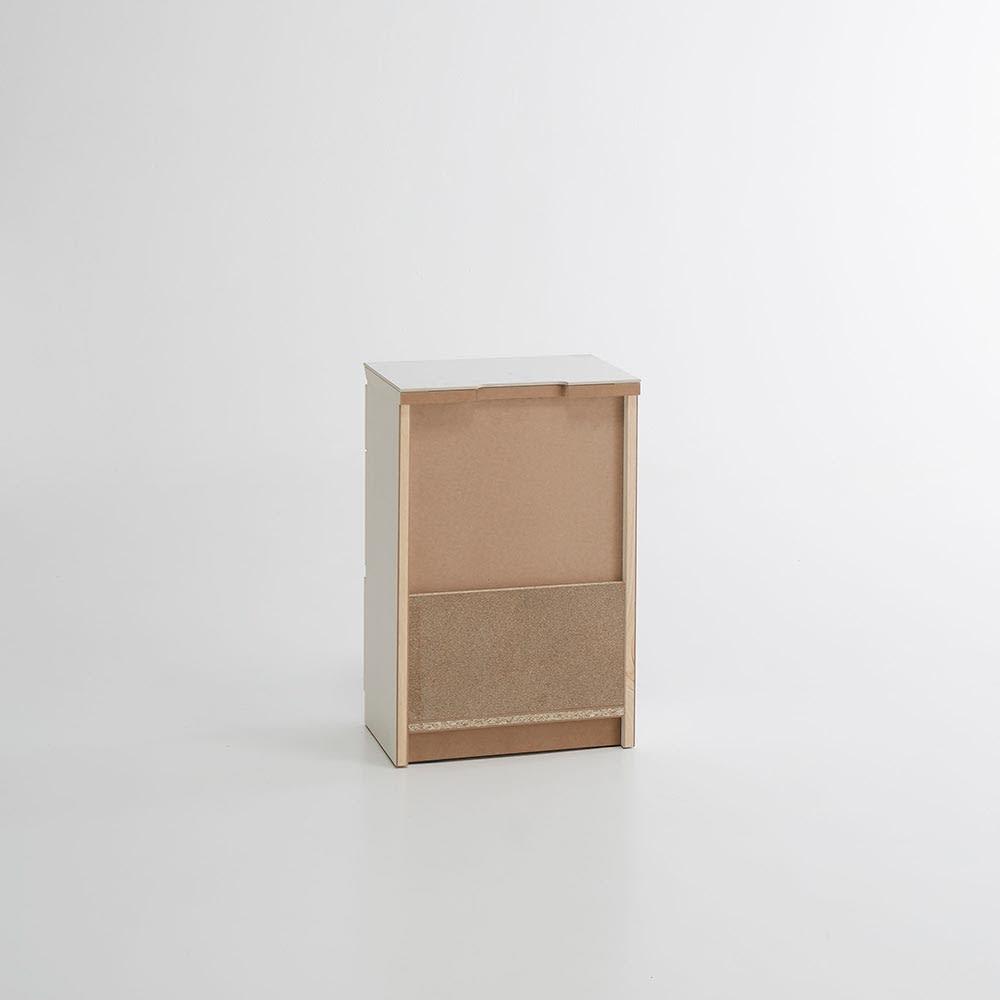 Caato/カット カウンター下収納 チェスト幅40.5cm 高さ60.5cm 背面