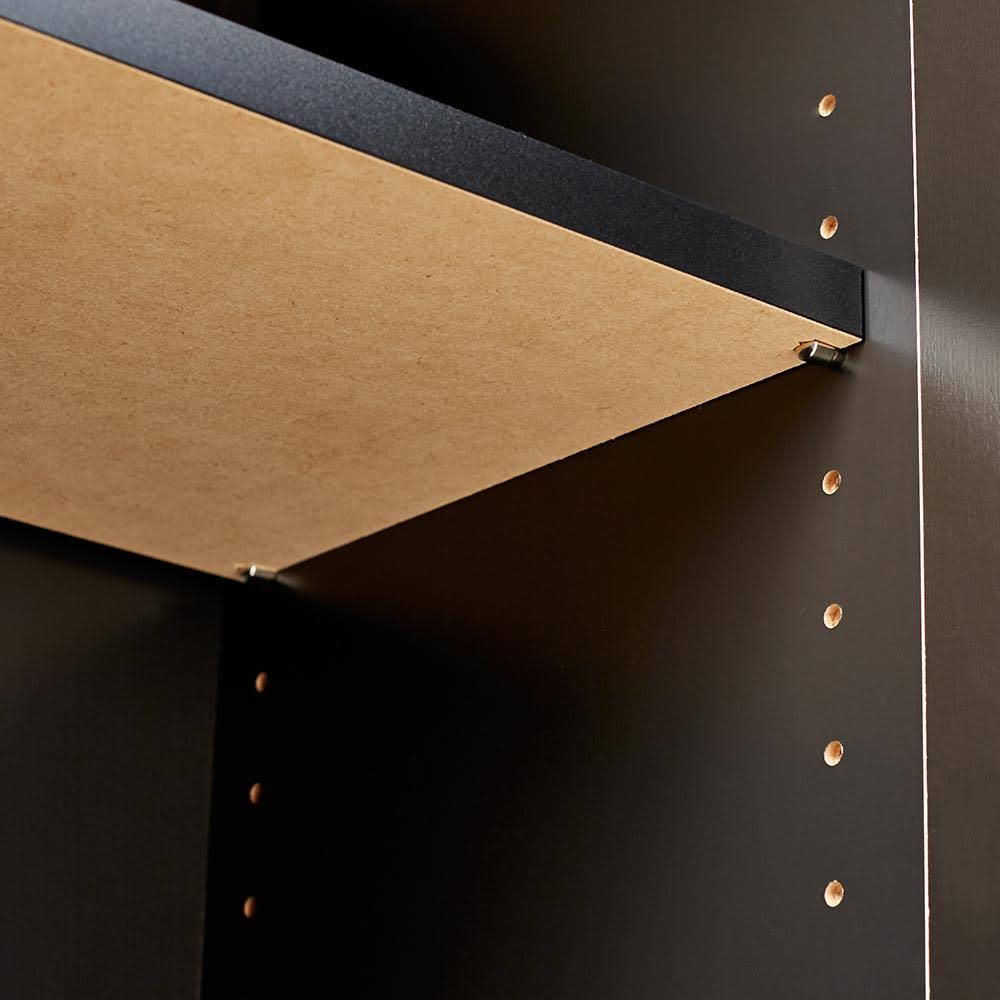 Peili/ペイリ カウンター下収納庫 収納庫幅119cm 奥行20cm 棚板は3cm間隔11段階で高さ調整が可能です。