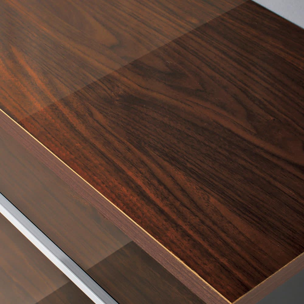 Peili/ペイリ カウンター下収納庫 引き出し幅44cm 奥行29.5cm 天板までつややかで美しく機能的なハイグロスシート貼りです。