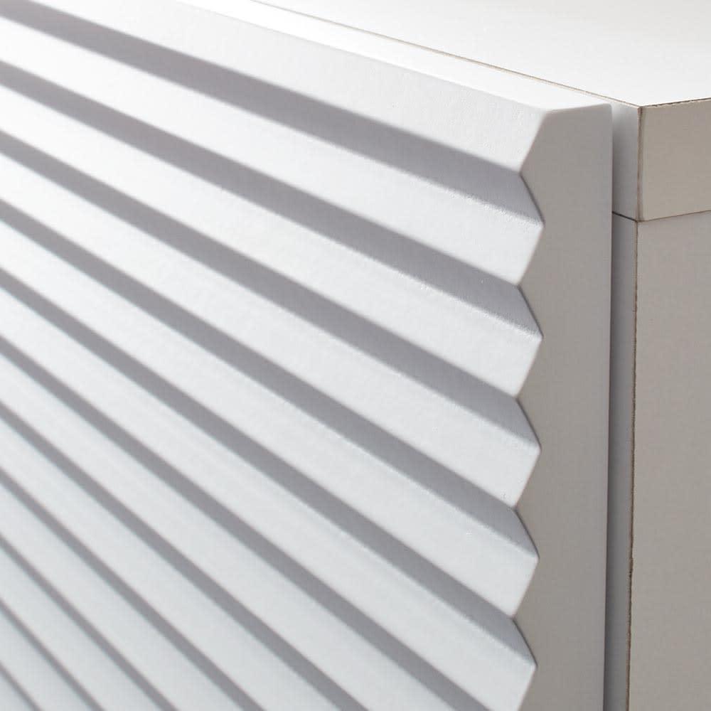 Venlo/フェンロー カウンター下収納庫 収納庫幅80cm 高さ71cm 前板に施した彫り深い溝が陰影のある贅沢な立体感を演出