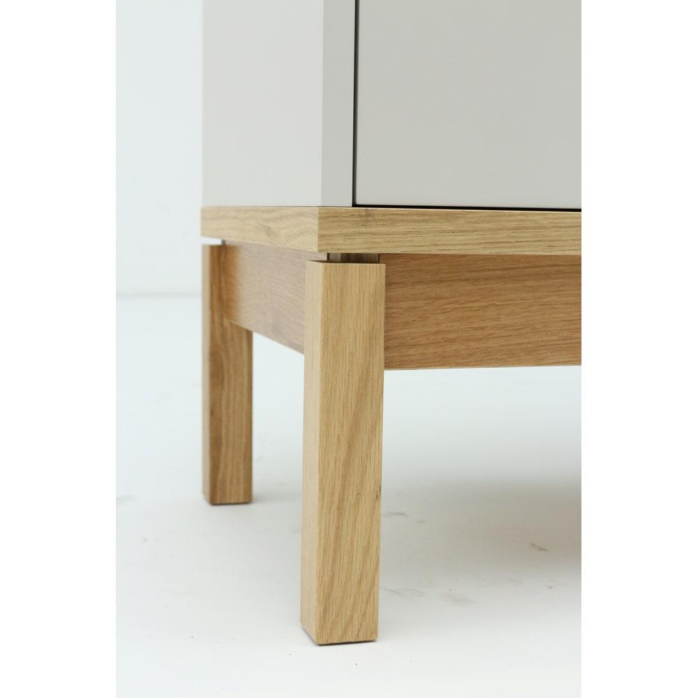 Abbey wood アビーウッド キャビネット 幅90cm お掃除ロボットにも対応可能な脚部高さ14cm。