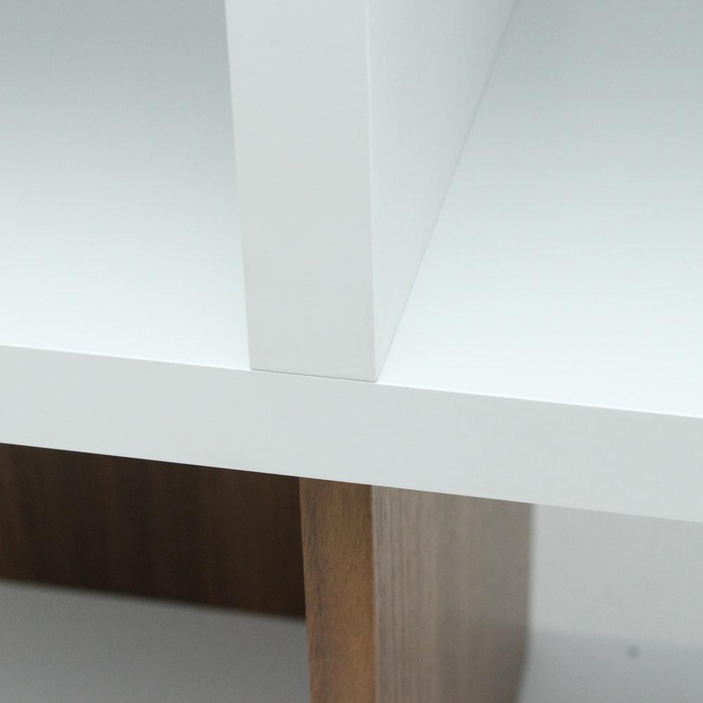 London ロンドン リビングシェルフ 3段 本体・棚板の板厚は30mm、しっかりしています