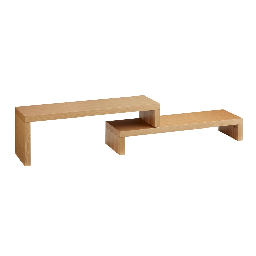 HS Cliff/エイチエスクリフ 伸縮式テレビ台テーブル 幅120cm[temahome テマホーム] オーク(ナチュラル)