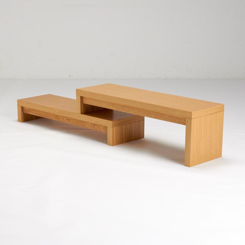HS Cliff/エイチエスクリフ 伸縮式テレビ台テーブル 幅120cm[temahome テマホーム] 背面