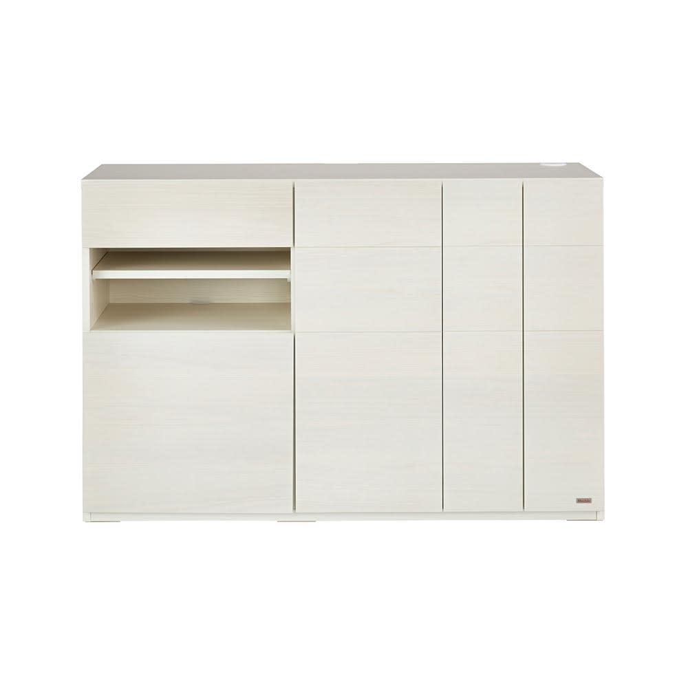 SabioII/サビオ リビング家電収納 サイドボード幅130cm (ウ)ホワイト